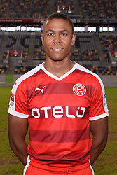02.07.2015, Esprit Arena, Duesseldorf, GER, 2. FBL, Fortuna Duesseldorf, Fototermin, im Bild Mathis Bolly ( Fortuna Duesseldorf / Portrait ) // during the official Team and Portrait Photoshoot of German 2nd Bundesliga Club Fortuna Duesseldorf at the Esprit Arena in Duesseldorf, Germany on 2015/07/02. EXPA Pictures &copy; 2015, PhotoCredit: EXPA/ Eibner-Pressefoto/ Thienel<br /> <br /> *****ATTENTION - OUT of GER*****