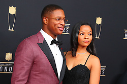 February 2, 2019 - Atlanta, GA, U.S. - ATLANTA, GA - FEBRUARY 02:  Kenyon Drake  poses for photos on the red carpet at the NFL Honors on February 2, 2019 at the Fox Theatre in Atlanta, GA. (Photo by Rich Graessle/Icon Sportswire) (Credit Image: © Rich Graessle/Icon SMI via ZUMA Press)