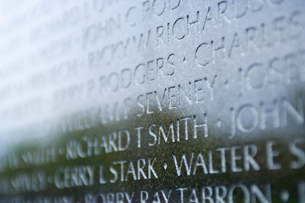 Names on the Vietnam War Memorial Washington DC USA&#xA;<br />