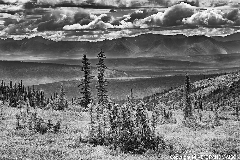 Scenic from Ogilvie Summit on t he Dempster Highway<br />