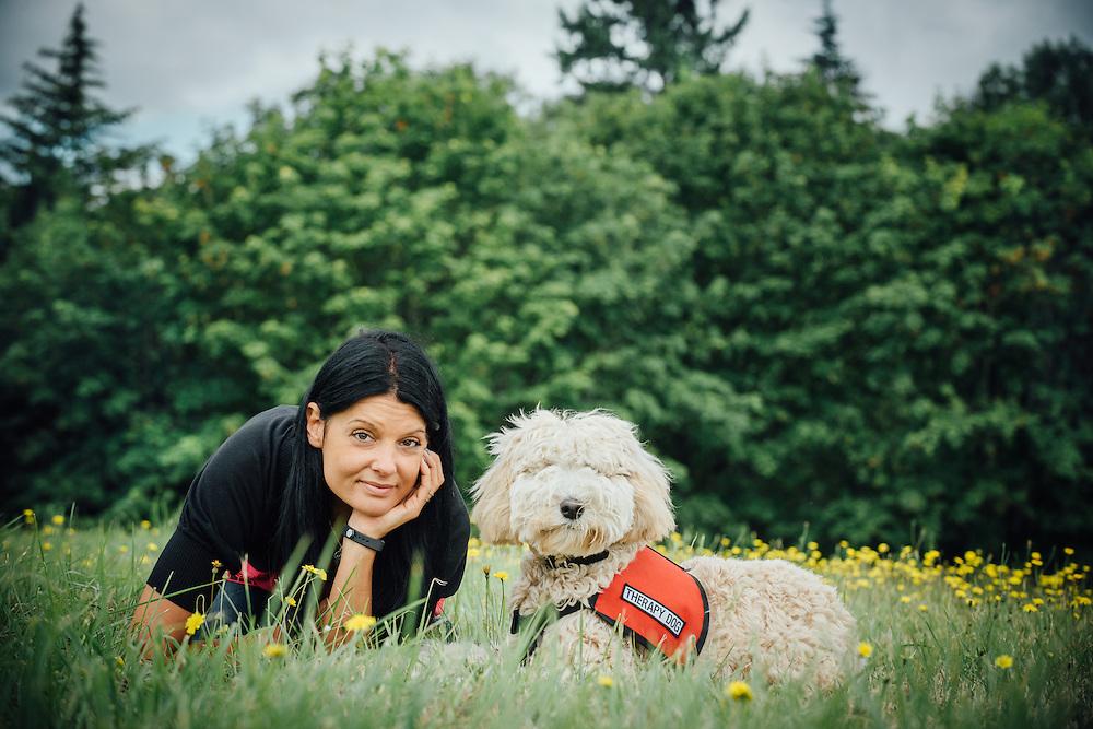 Nala, therapy dog at Hazelden