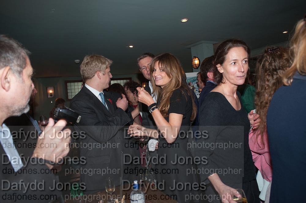 JOE JOHNSON; JEMIMA KHAN JEMIMA KHAN, Party to celebrate the publication of 'Winter Games' by Rachel Johnson. the Draft House, Tower Bridge. London. 1 November 2012.