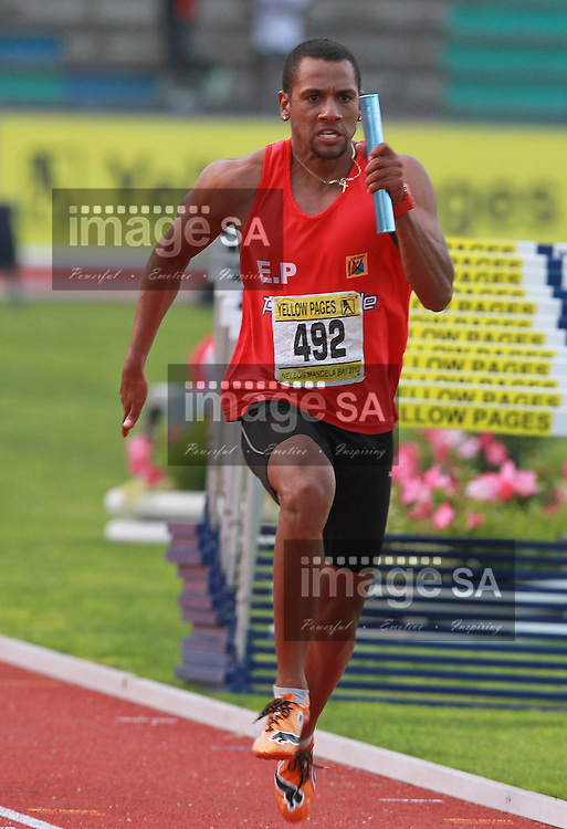 PORT ELIZABETH, SOUTH AFRICA, Saturday 14 April 2012,  Sergio Mullins during the Yellow Pages South African Senior and Combined Events Championships held at the Xerox Nelson Mandela Metropolitan University, Nelson Mandela Bay..Photo by Roger Sedres/Image SA/ASA