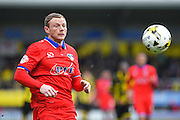 Oldham Athletic defender Brian Wilson during the Sky Bet League 1 match between Burton Albion and Oldham Athletic at the Pirelli Stadium, Burton upon Trent, England on 26 March 2016. Photo by Jon Hobley.