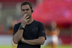 September 1, 2018 - Limerick, Ireland - Munster Head Coach Johann van Graan pictured during the Guinness PRO14 rugby match between Munster Rugby and Toyota Cheetahs at Thomond Park Stadium in Limerick, Ireland on September 1, 2018  (Credit Image: © Andrew Surma/NurPhoto/ZUMA Press)