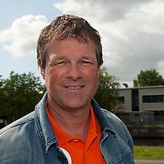Oud-international ERWIN KOEMAN was donderdag 14 juni 2012 aanwezig in het Olympisch Stadion te Amsterdam, om de aftrap te verrichten voor het vertrek van de Oranje Trophy - 30 voertuigen - naar de Noordkaap. Foto JOVIP/JOHN VAN IPEREN