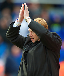 BIRMINGHAM, ENGLAND - Saturday, March 13, 2010: Birmingham City's manager Alex McLeish before the Premiership match against Everton at St Andrews. (Photo by David Rawcliffe/Propaganda)