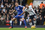 Tottenham Hotspur midfielder Mousa Dembele and Chelsea midfielder Nemanja Matic during the Barclays Premier League match between Tottenham Hotspur and Chelsea at White Hart Lane, London, England on 29 November 2015. Photo by Alan Franklin.