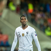 ANDORRA LA VELLA, ANDORRA. June 11.  Paul Pogba #6 of France in action during the Andorra V France 2020 European Championship Qualifying, Group H match at the Estadi Nacional d'Andorra on June 11th 2019 in Andorra (Photo by Tim Clayton/Corbis via Getty Images)