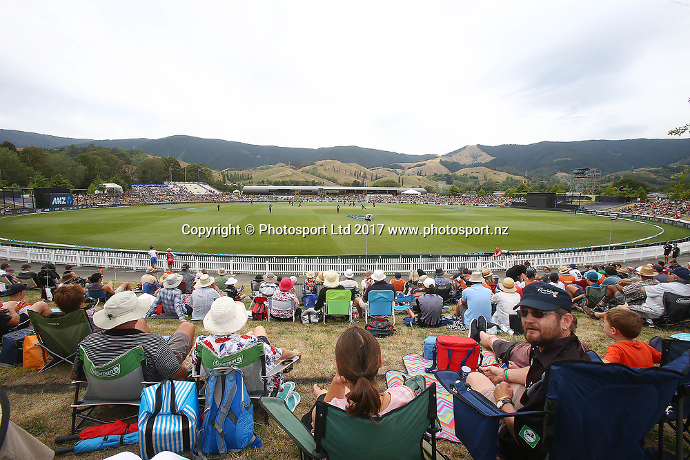 General Overview of Saxton Oval during the Second One-Day game between Black Caps v Pakistan, Saxton Oval, Nelson, Tuesday 9th Janurary 2018. Copyright Photo: Evan Barnes/ © www.Photosport.nz 2018