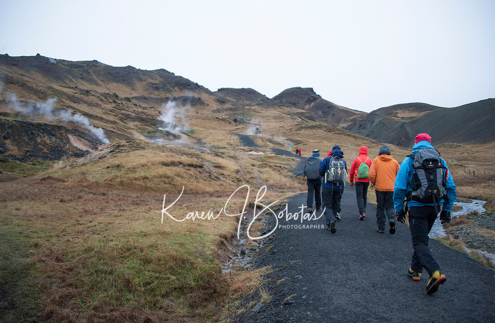 Reykjadalur Hike to the hot springs Iceland. ©2019 Karen Bobotas Photographer
