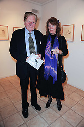 Parents of the artist Lord & Lady Teynham at a private view of art by William Roper-Curzon entitled 'The Gathering' held at Aretha Campbell Fine Art, 3 Bedfordbury Place, London on 23rd February 2010.