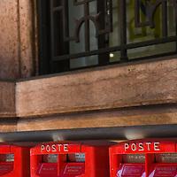 Mailboxes at Palazzo della Borsa, Genoa, Italia