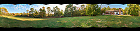 Autumn 360 Degree Backyard Panorama. Composite of 10 images taken with a Fuji X-T1 camera and 14 mm f/2.8 lens (ISO 1250, 14 mm, f/11, 1/125 sec). Raw images processed with Capture One Pro and AutoPano Giga Pro.
