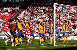 Tommy Rowe of Doncaster Rovers scores his sides first goal - Mandatory by-line: Matt McNulty/JMP - 08/04/2017 - FOOTBALL - The Keepmoat Stadium - Doncaster, England - Doncaster Rovers v Mansfield Town - Sky Bet League Two