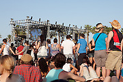 Crowd of fans at the Outdoor Stage at the 2010 Coachella Music Festival in Indio, CA on Friday, April 16, 2010.