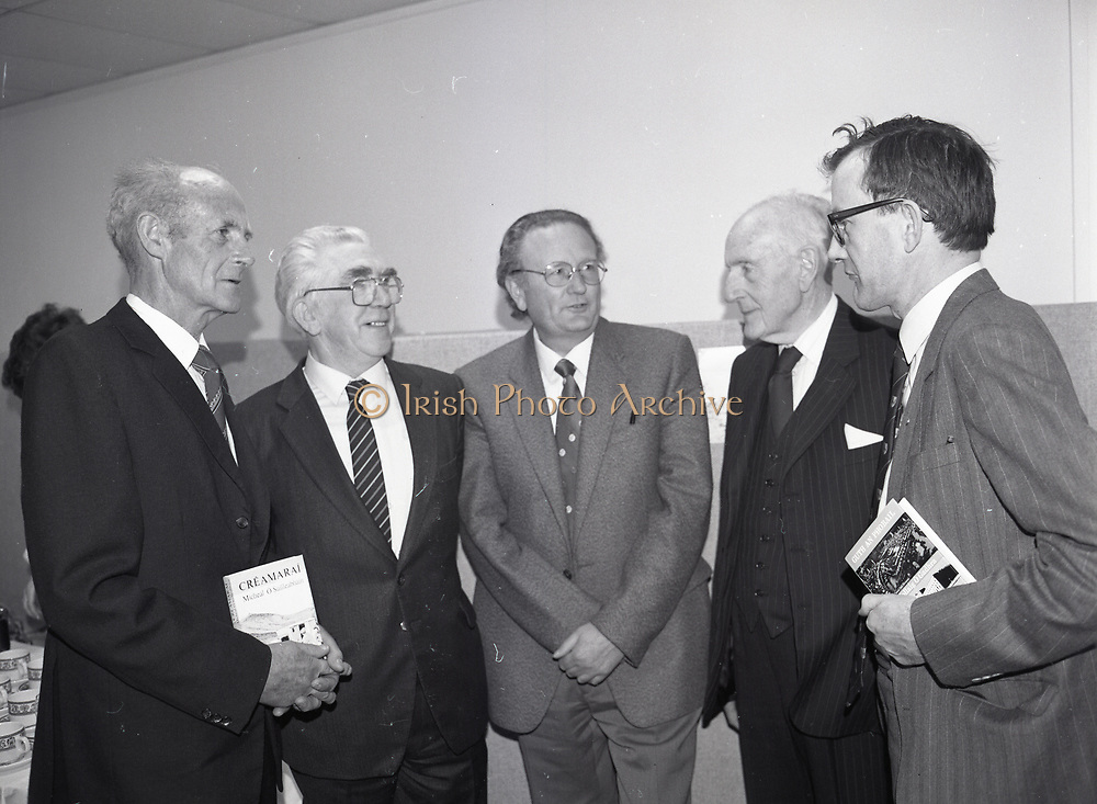 Presentation of two books, Bord na Gaeilge, Dublin,<br />