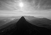 Adams Peak and sunburst.
