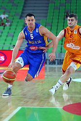 Aleksej Nesovic of BiH at friendly match between Macedonia and BIH for Adecco Cup 2011 as part of exhibition games before European Championship Lithuania on August 6, 2011, in SRC Stozice, Ljubljana, Slovenia. (Photo by Urban Urbanc / Sportida)