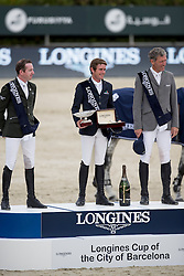 Darragh Kenny, Broderick Greg Patrick, IRL, Beerbaum Ludger, GER<br /> Longines Cup of the City of Barcelona<br /> Furusiyya FEI Nations Cup Jumping Final - Barcelona 2016<br /> © Hippo Foto - Dirk Caremans<br /> 25/09/16