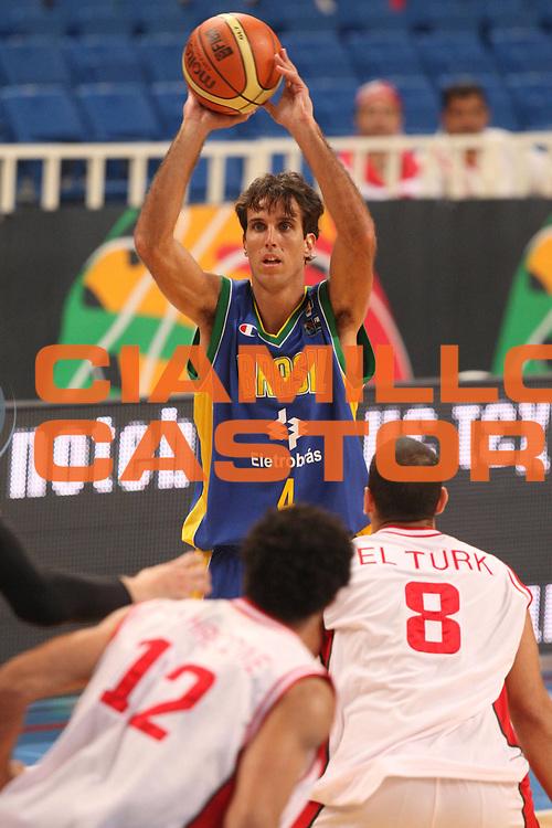 DESCRIZIONE : Atene Athens 2008 Fiba Olympic Qualifying Tournament For Men Brazil Lebanon<br />GIOCATORE : Marcelo Machado<br />SQUADRA : Brazil Brasile<br />EVENTO : 2008 Fiba Olympic Qualifying Tournament For Men <br />GARA : Brazil Lebanon Brasile Libano<br />DATA : 15/07/2008 <br />CATEGORIA : Passaggio<br />SPORT : Pallacanestro <br />AUTORE : Agenzia Ciamillo-Castoria/G.Ciamillo<br />Galleria : 2008 Fiba Olympic Qualifying Tournament For Men<br />Fotonotizia : Atene Athens 2008 Fiba Olympic Qualifying Tournament For Men Brazil Lebanon<br />Predefinita :