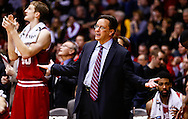 WEST LAFAYETTE, IN - JANUARY 30: Head coach Tom Crean of the Indiana Hoosiers gestures to the officials during the game against the Purdue Boilermakers at Mackey Arena on January 30, 2013 in West Lafayette, Indiana. Indiana defeated Purdue 97-60. (Photo by Michael Hickey/Getty Images) *** Local Caption *** Tom Crean
