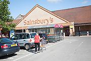 Cars parked at Sainsbury's supermarket store, Chippenham, Wiltshire, England, UK