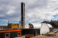 Sweden, Karlsborg. Replica of an old steamboat in Forsvik.
