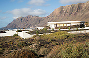 Private housing development of holiday homes La Caleta de Famara, Lanzarote, Canary islands, Spain