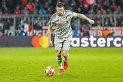 Liverpool midfielder James Milner (7) on the ball during the Champions League match between Bayern Munich and Liverpool at the Allianz Arena, Munich, Germany, on 13 March 2019.