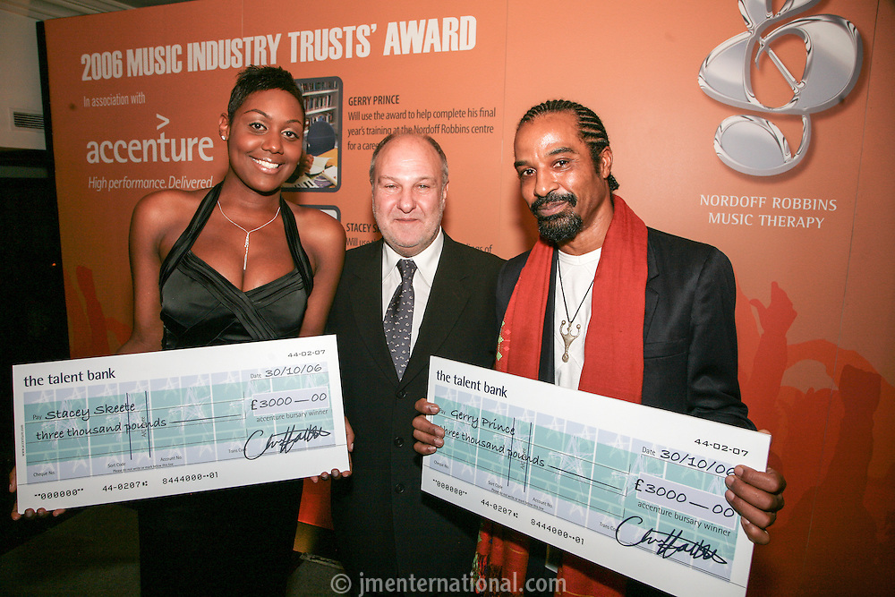 Stacey Skeete, Harvey Goldsmith and Gerry Prince
