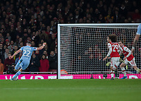 Football - 2019 /2020 FA Cup - Third Round: Arsenal vs. Leeds United.<br /> <br /> Jack Harrison (Leeds United) strikes the ball towards the Arsenal goal as the opportunity opens up at the Emirates Stadium<br /> <br /> COLORSPORT/DANIEL BEARHAM