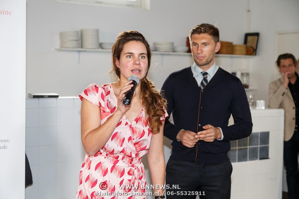 NLD/Amsterdam/20151020 - Boekpresentatie Lev geschreven door Iris Koppe,, Evgeniy Levchenko met Iris