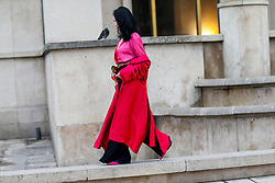 Street style, arriving at Haider Ackermann Fall-Winter 2018-2019 show held at Palais de Chaillot, in Paris, France, on March 3rd, 2018. Photo by Marie-Paola Bertrand-Hillion/ABACAPRESS.COM