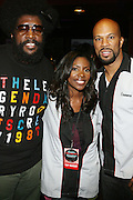 l to r: Ahmir Quest?love, Jael Gadsden and Common at Common's Start the Show n' Bowl benefiting The Common Ground Foundation held at Hotel Sax on September 26, 2008 in Chicago, IL