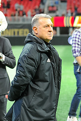 "October 21, 2018 - Atlanta, GA, U.S. - ATLANTA, GA - OCTOBER 21:Atlanta United Head Coach Gerardo Ã'TataÃ"" Martino  after the MLS game between the Atlanta United and the Chicago Fire on October 21, 2018 at the Mercedes-Benz Stadium in Atlanta, GA. Atlanta United FC secured a place in next year's CONCACAF Champions League with a 2-1 victory against the visiting Chicago Fire. (Photo by John Adams/Icon Sportswire) (Credit Image: © John Adams/Icon SMI via ZUMA Press)"