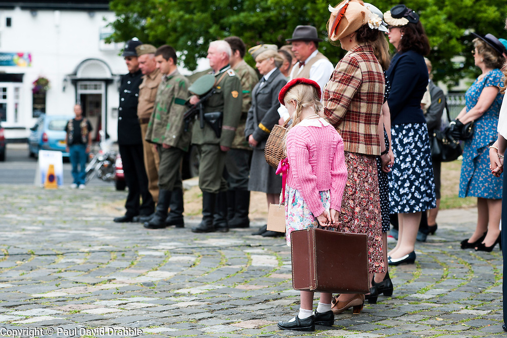 Remembrance service Sedgefield Spitfire on the Green 1940s wartime weekend<br />