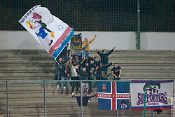 November 12, 2017 - Teramo, TE, Italy - The A.S. Gubbio fans during the Lega Pro 17/18 group B match between Teramo Calcio 1913 and AS Gubbio 1910 at Gaetano Bonolis stadium on November 12, 2017 in Teramo, Italy. (Credit Image: © Danilo Di Giovanni/NurPhoto via ZUMA Press)