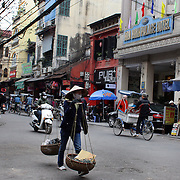 A street scene in the old quarter of Hanoi, Vietnam. Hanoi is the capital of Vietnam and the country's second largest city. Hanoi, Vietnam. 17th March 2012. Photo Tim Clayton