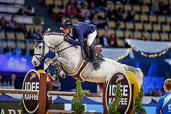 BALSIGER Bryan (SUI), Ak's Courage<br /> München - Munich Indoors 2019<br /> CSI4* - Munich Indoors Gold-Cup (Mittlere Tour)<br /> Springprüfung mit Stechen, international<br /> Höhe: 1.50m<br /> 23. November 2019<br /> © www.sportfotos-lafrentz.de/Stefan Lafrentz