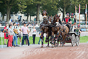 Chester Weber, (USA), Boris W, Boy W, Para, Splash, Uniek - Driving Marathon - Alltech FEI World Equestrian Games™ 2014 - Normandy, France.<br /> © Hippo Foto Team - Jon Stroud<br /> 06/09/2014