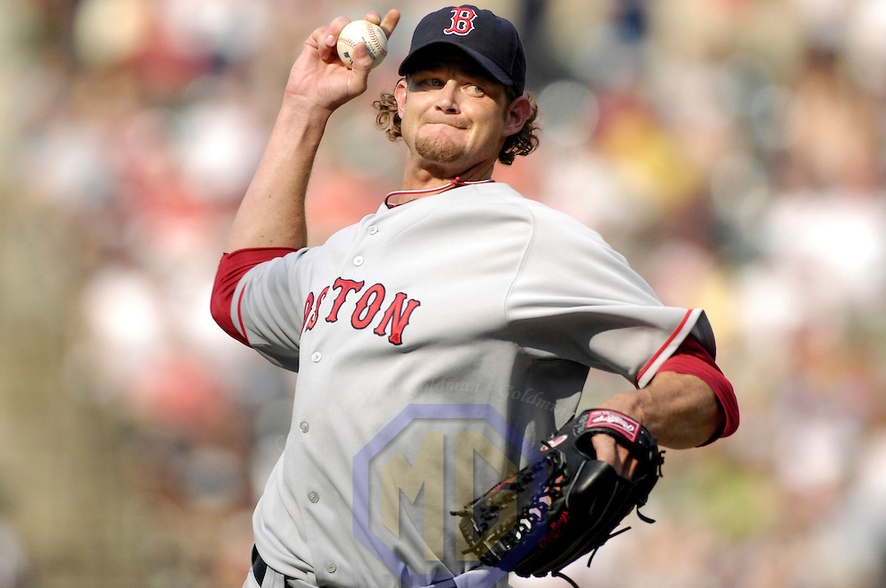 12 August 2007:  Boston Red Sox pitcher Kyle Snyder (39) pitches in the 10th inning against the Baltimore Orioles. Snyder gave up a three run walk off home run to Baltimore Orioles first baseman Kevin Millar as the Orioles defeated the Red Sox 6-3 in the 10th inning at Camden Yards in Baltimore, MD.