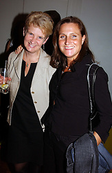 Left to right, CLAIRE MURDOCH and PHILIPPA PRIDE at a party to celebrate the publication of The Man Who Fell in Love With His Wife by Paul Burke held at The Groucho Club, 45 Dean Street, London W1 on 12th July 2004.