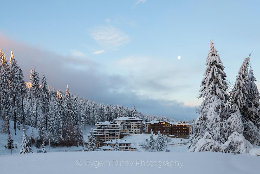 Pamporovo resort in winter