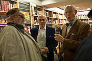 RICHARD GOLLNER, PETER LANTOS AND JEREMY CONNAR, Andrew Hosken - book launch party for 'Ken'<br />