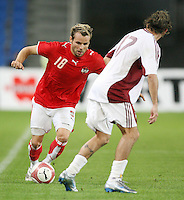 Fussball International Laenderspiel Oesterreich - Venezuela  Oesterreichs Roman Wallner am Ball