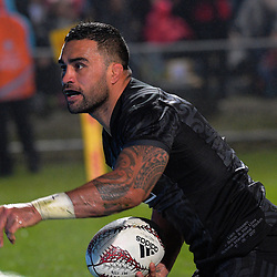 Liam Messam celebrates his try during the 2017 DHL Lions Series rugby union match between the NZ Maori and British & Irish Lions at Rotorua International Stadium in Rotorua, New Zealand on Saturday, 17 June 2017. Photo: Dave Lintott / lintottphoto.co.nz