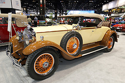 08  February 2013: 1930 MOdel 733 Packard Roadster.  Chicago Auto Show, Chicago Automobile Trade Association (CATA), McCormick Place, Chicago Illinois