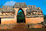 MEXICO, MAYAN CULTURE, YUCATAN PEN. Labn�; late classic 600-900 AD; the corbeled Arch of Labn�; the most famous arch of this kind