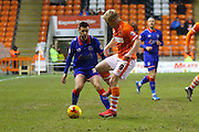 Blackpool Striker Mark Cullen during the Sky Bet League 1 match between Blackpool and Oldham Athletic at Bloomfield Road, Blackpool, England on 16 February 2016. Photo by Pete Burns.